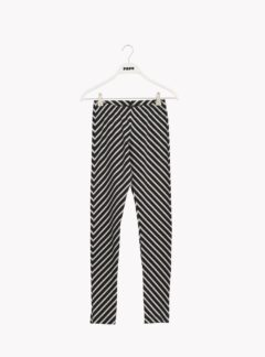 Stripe leggings, black/sand, adult