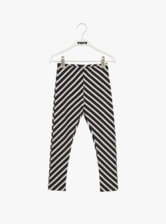 Stripe leggings, black/sand