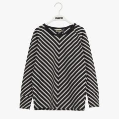 Stripe shirt, black/sand