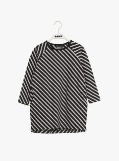 Stripe tunic, black/sand