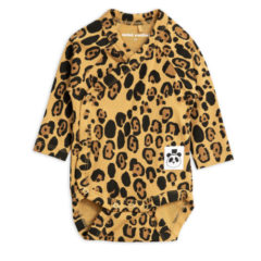 Basic leopard wrap body, beige