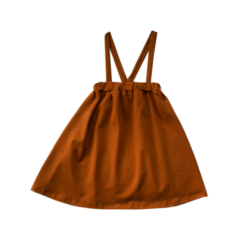 Suspenders skirt, Spring cinnamon
