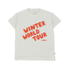 Winter World Tour Tee, Offwhite/Red