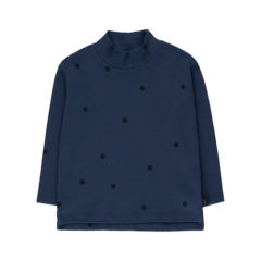 Dots Mockneck ls tee, Light navy/Navy