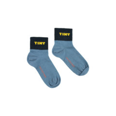 Tiny, quarter socks, sea blue/navy