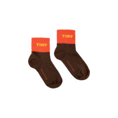 Tiny, quarter socks, ultra brown/red