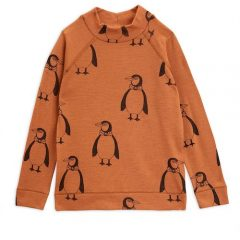 Penguin wool ls tee, Brown