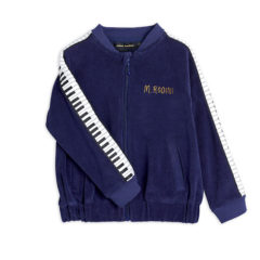 Piano terry jacket, Navy