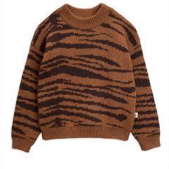 Tiger knitted sweater, Brown