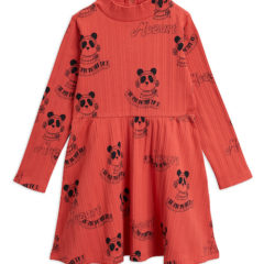 Mozart aop ls dress, Red
