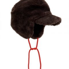 Faux fur cap, Brown