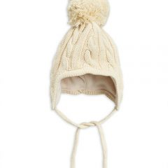 Cable knitted baby hat, Offwhite