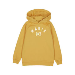 Brand hooded sweatshirt, Ochre