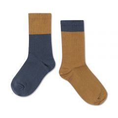 Socks, Dark navy golden block