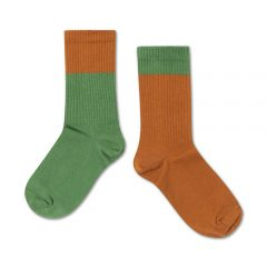 Socks, Hunter green autumn block