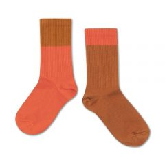 Socks, Vibrant red autumn block