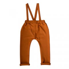 Suspenders pants, Spring cinnamon