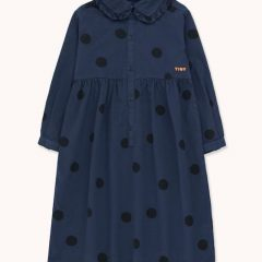 Big dots dress, Light navy/black