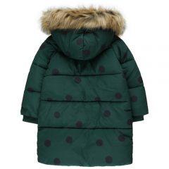 Big dots padded jacket, Dark green/black