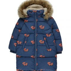 Foxes padded jacket, Light navy/Sienna