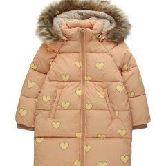 Hearts padded jacket, Camel/yellow