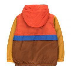 Color block pullover, Red/Dark brown