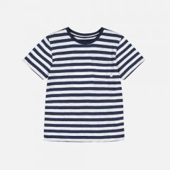 Verkstad t-shirt, Navy-White