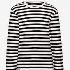 Verkstad long sleeve, Black/White, 98/104