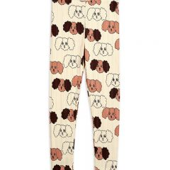 Fluffy Dog Leggings, Beige