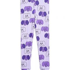 Fluffy Dog Leggings, Purple