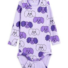 Fluffy Dog Long Sleeve Body, Purple