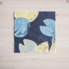 PAPER NAPKINS WATER LILIES, BLUE