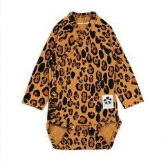 Basic Leopard Wrap Body, Beige