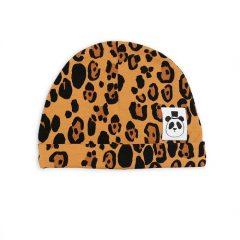 Basic Leopard Baby Beanie, Beige