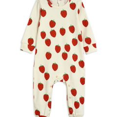Strawberry aop jumpsuit, Offwhite