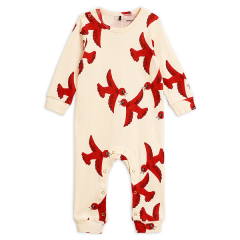 Flying birds jumpsuit, Offwhite, 80/86
