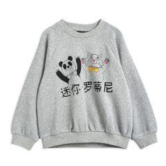 Cat And Panda SP Sweatshirt, Grey Melange