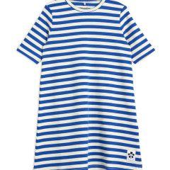 Stripe RIB SS Dress, Blue