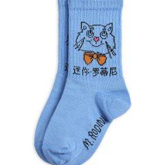 Cat Socks, Light Blue